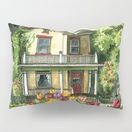 Farmhouse with Spring Tulips Pillow Sham