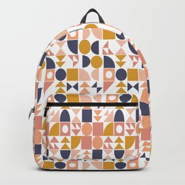 Modern Shapes Geometric Pattern Backpack