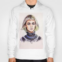 marc johns Hoodies featuring Cara/Marc Jacobs 2014 by vooce & kat