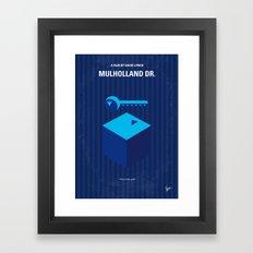 No323 My MULHOLLAND DRIVE minimal movie poster Framed Art Print