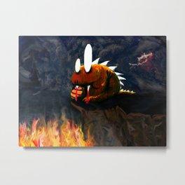 Dino Monster Design Metal Print