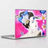 third eye Laptop & iPad Skins featuring Third Eye by Fabsdolls
