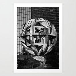 architecture monument Leonardo Da Vinci Art Print
