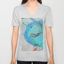Abstract blue Unisex V-Neck