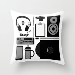 Studio Objects Vector Illustration Throw Pillow