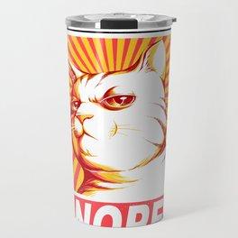 Obey Cats Travel Mug