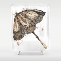 victorian Shower Curtains featuring Victorian Parasol by Jess Stewart-Croker