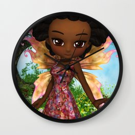 Lil Fairy Princess Wall Clock