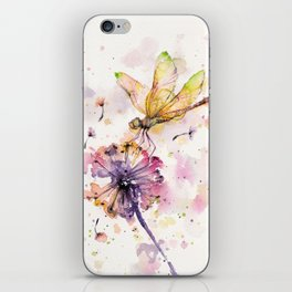 Dragonfly & Dandelion Dance iPhone Skin