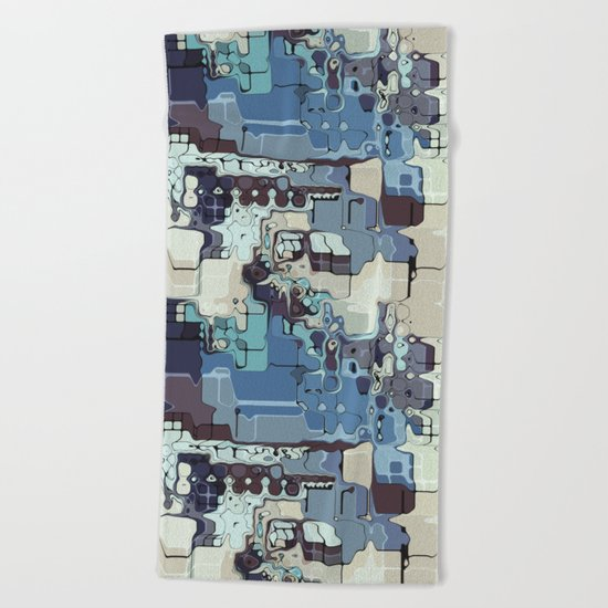 Blue And Green Pastels Abstract Beach Towel