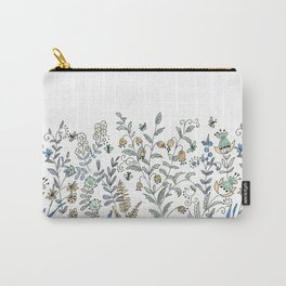 Watercolor pattern . The flowers of the field . 2 Carry-All Pouch