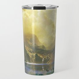 Among the Siera Nevada Mountains, California by Albert Bierstadt Travel Mug