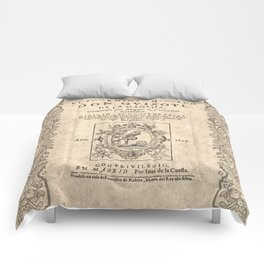 Cervantes. Don Quijote, 1605. Comforters
