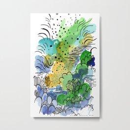 Green fantasy Metal Print