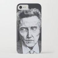 christopher walken iPhone & iPod Cases featuring Portrait of Christopher Walken by NAB Artwork