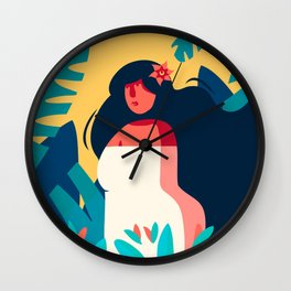 Woman owner of herself Wall Clock