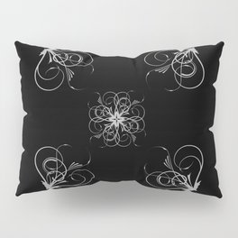 Silver Embossed Corners Pillow Sham