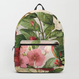 Sunflowers  With Butterflies and a Bird Backpack