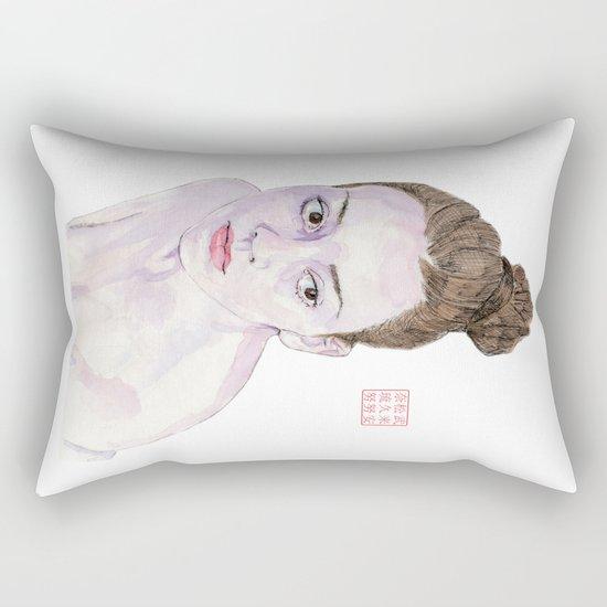 Portrait of a Ballerina Rectangular Pillow