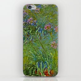 "Claude Monet ""Agapanthus Flowers"" iPhone Skin"