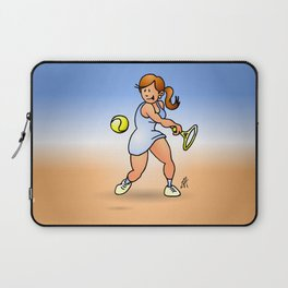 Tennis girl hitting a backhand Laptop Sleeve