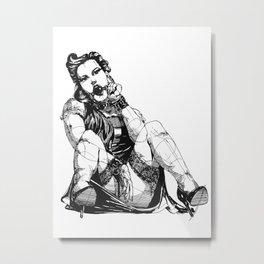 Playful Girl Metal Print