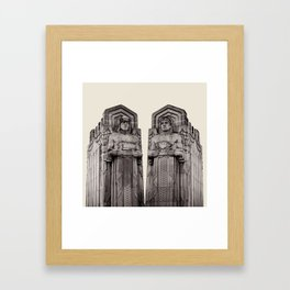 Guardians in Oatmeal Framed Art Print