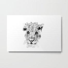 Lion Artwork Metal Print
