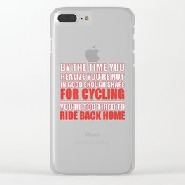 By The Time Bike National Trails Day Bike Trail graphic Clear iPhone Case
