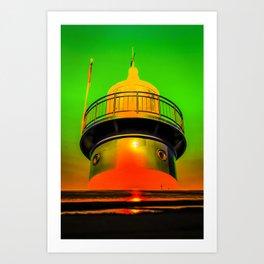 Lighthouse romance 100 Art Print