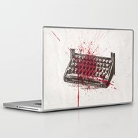 movie poster Laptop & iPad Skins featuring Misery - minimal movie poster by Stefanoreves