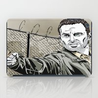 rick grimes iPad Cases featuring Walking Dead - Rick Grimes  by Averagejoeart