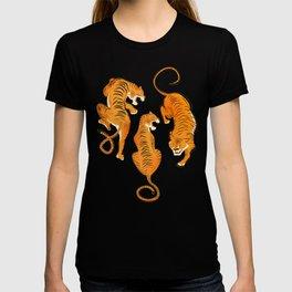 Three fierce tigers T-shirt