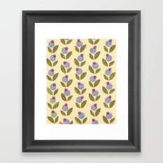 Tiny Flower stamp pattern Framed Art Print