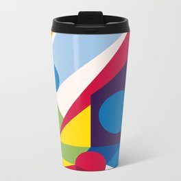 Abstract modern geometric background. Composition 11 Metal Travel Mug