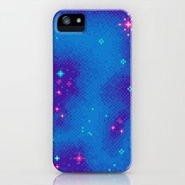 Indigo Nebula (8bit) iPhone Case