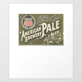 American Pale Ale Beer Art Print