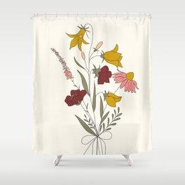 Wildflowers Bouquet Shower Curtain