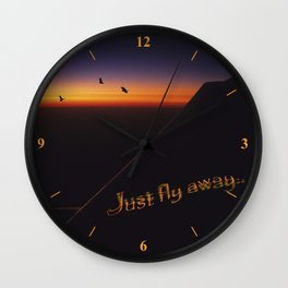 Just Fly Away Wall Clock