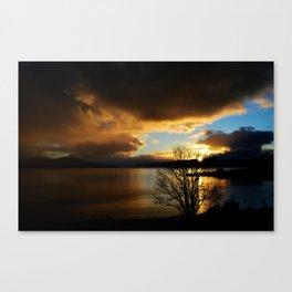 Sunset in Scotland Canvas Print
