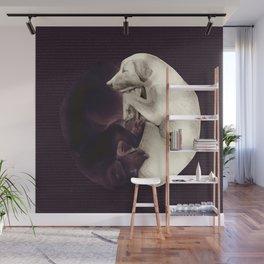 yin-yang dogs dark Wall Mural