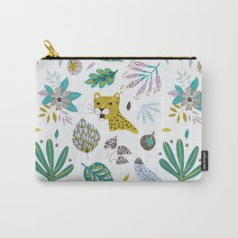 Jaguar and Leaves Carry-All Pouch