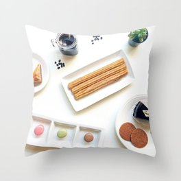 International Dessert Party Throw Pillow