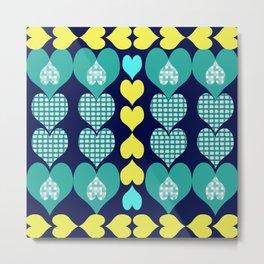 big and small hearts Metal Print