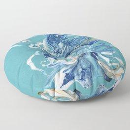 Dancing Waves Abstract Floor Pillow