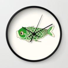 Koi Green Wall Clock