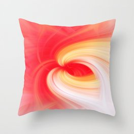 Abstract image composed of colored lines that create spirals Throw Pillow