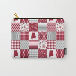Alabama university crimson tide quilt pattern college sports alumni gifts Carry-All Pouch