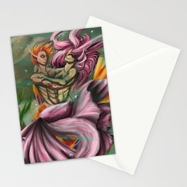 Betta and Flame Dancing Stationery Cards