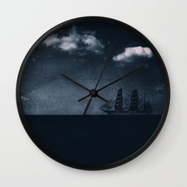 Мysterious ship Wall Clock